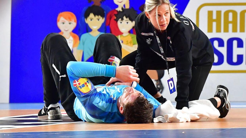Niklas Landin slog sig gevaldigt under kampen mod Kroatien.
