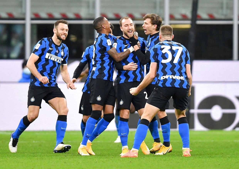 Christian Eriksens frisparksmål sendte Inter-spillerne ud i vilde jubelscener.
