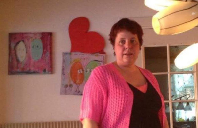 Sådan så Anja Jensen ud, da inden sin død stod på sin yngste datters værelse. Foto: Privat