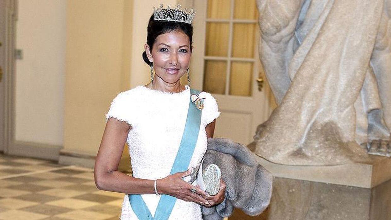 Графиня Александра на гала-ужине в замке Кристиансборг по случаю 50-летия наследного принца в 2018 году.