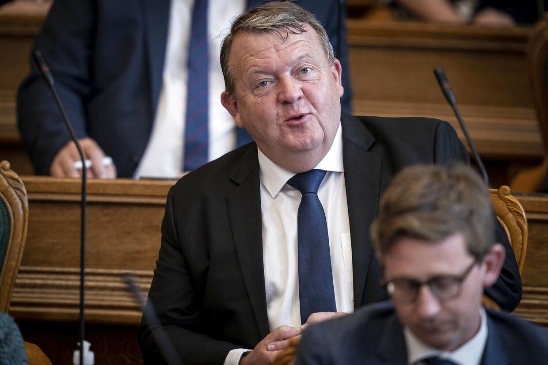 Lars Løkke Rasmussen (V) under Folketingets åbning på Christiansborg i København, tirsdag den 6. oktober 2020.. (Foto: Mads Claus Rasmussen/Ritzau Scanpix)