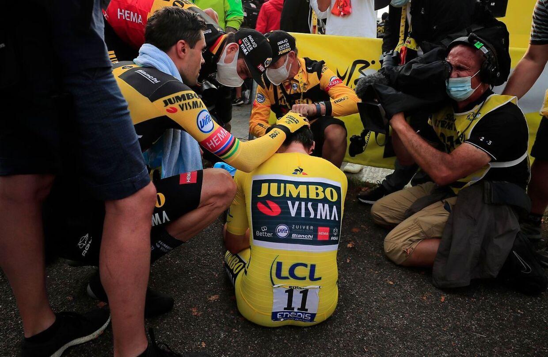 Primoz Roglic var utrøstelig, efter han på sensationel vis blev slået ved den afsluttende enkeltstart ved Tour de France.