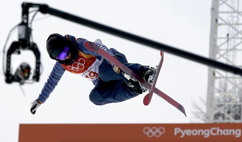 Laila Friis-Salling i aktion under vinter-OL 2018 i Pyeongchang.