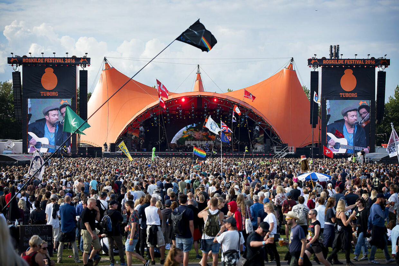 Roskilde Festivales berømte Orange scene.