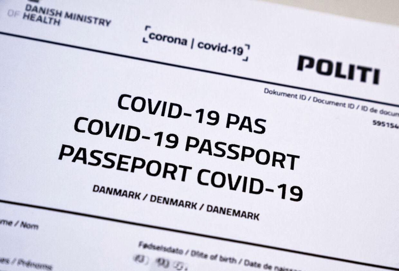 (ARKIV) Covid-19 pas, Aalborg 9. januar 2021. Covid-19 Passport, Sars-Cov-2 (Covid-19), PCR (RNA) test.Grækenland har fremlagt forslag om et vaccinepas i EU. Det skal gøre det lettere for corona-vaccinerede at rejse frit og skal drøftes på EU-topmøde i næste uge. Det skriver Ritzau, onsdag den 13. januar 2021.. (Foto: Henning Bagger/Ritzau Scanpix)