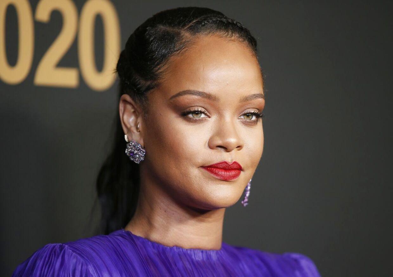 Rihanna lige før coronakrisen indtraf i foråret 2020.