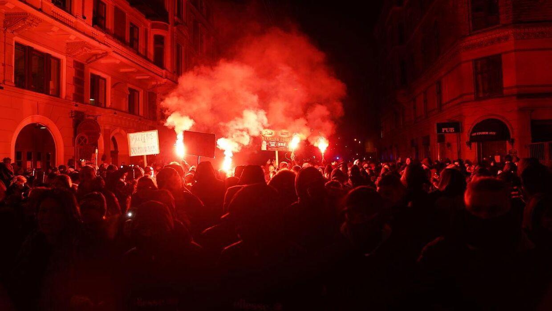 Demonstration i København. Lørdag den 6. februar 2021.