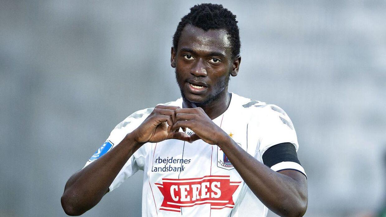 Mustapha Bundu har tidligere tørnet ud for AGF, inden han sidste år røg til belgiske Anderlecht.