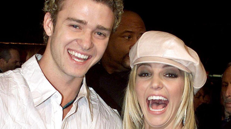 Arkivfoto af Britney Spears og Justin Timberlake.