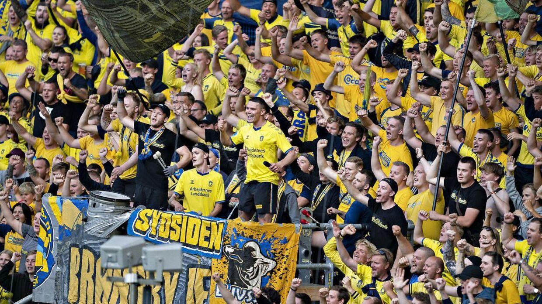 Brøndby-fans har valgt at tage på 'udebanetur' til Lyngby i weekenden. Arkivfoto.