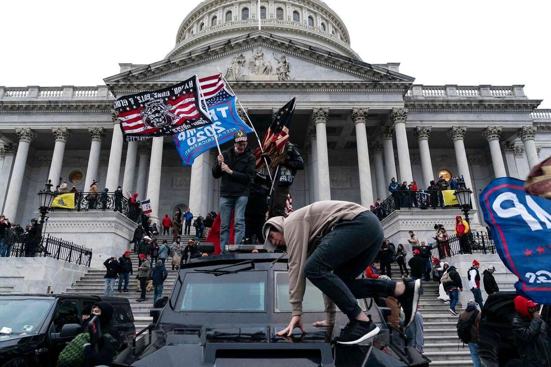 Sådan så det ud, da Trump-tilhængerne trængte ind i kongresbygningen 6. januar.