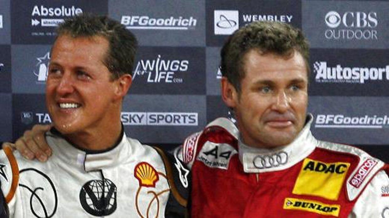 Tom Kristensen og Michael Schumacher kender hinanden særdeles godt. (AFP PHOTO/Ian Kington)