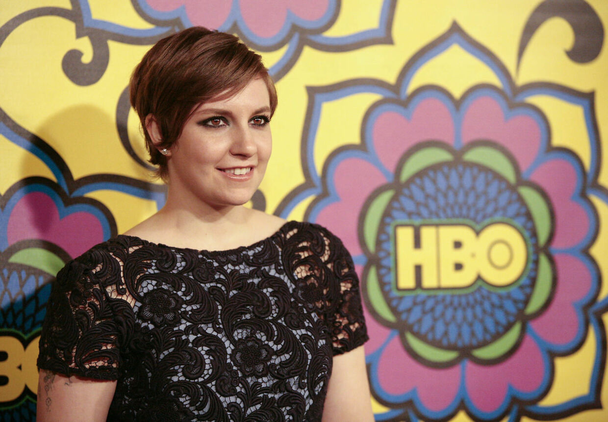 """Actress Lena Dunham, of the comedy series """"Girls"""", arrives at HBO's post award reception following the 64th Primetime Emmy Awards in West Hollywood, California September 23, 2012. REUTERS/Jason Redmond (UNITED STATES - Tags: ENTERTAINMENT)"""