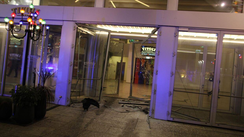 Indgangspartiet er blevet godt smadret. (Foto: Presse-fotos.dk)