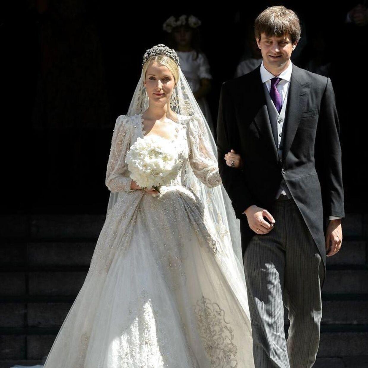 Prins Ernst August junior sammen med sin russiske brud.