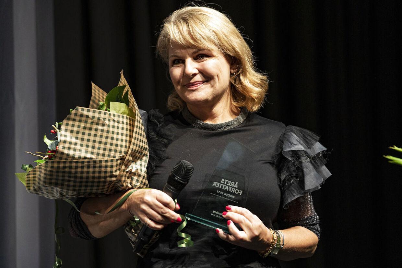 Forfatter Sara Blædel kåres som Årets forfatter i Bogforum i København lørdag den 16. november 2019. (Foto: Ida Guldbæk Arentsen/Scanpix 2019)