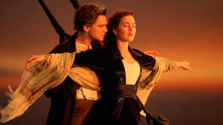 Leonardo DiCaprio og Kate Winslet i 'Titanic'..