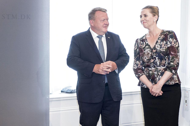 Lars Løkke Rasmussen overdrager til statsminister Mette Frederiksen i Statsministeriet i København torsdag 27. juni 2019. (Foto: Mads Claus Rasmussen/Ritzau Scanpix)