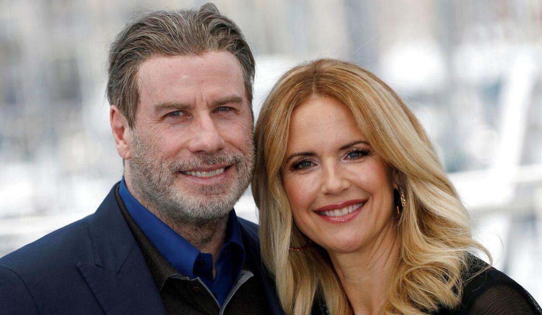 John Travolta og hans nu afdøde kone Kelly Preston.