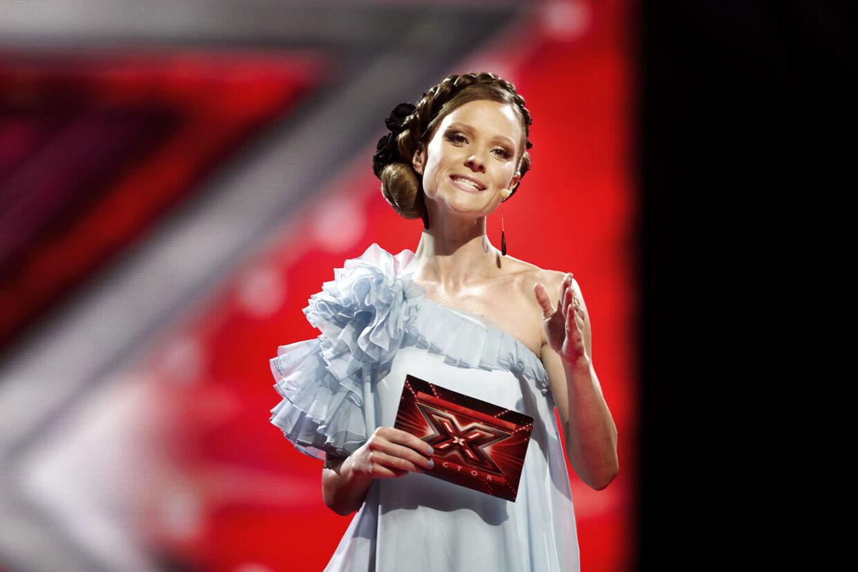 Lise Rønne som 'X Factor'-vært. Her tilbage i 2011.