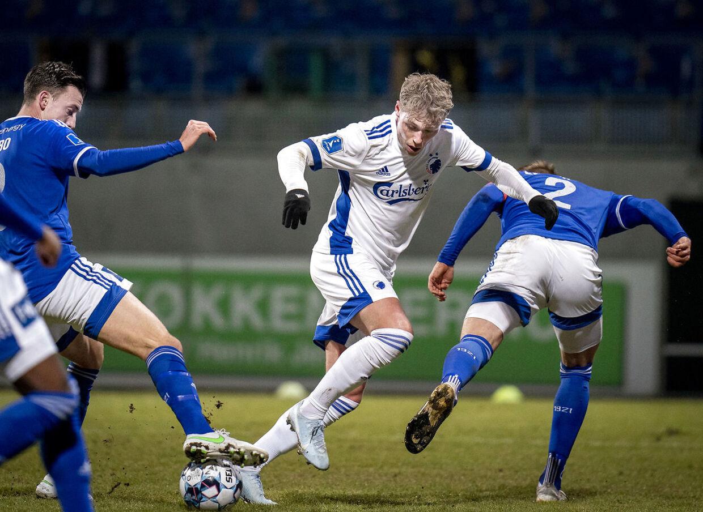 FCKs Viktor Fischer under superligakampen mellem Lyngby Boldklub - FC København på Lyngby Stadion, mandag den 22 februar 2021.. (Foto: Liselotte Sabroe/Ritzau Scanpix)