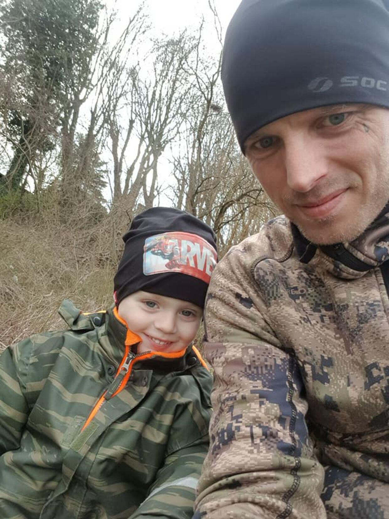 Morten Andersen og hans søn.