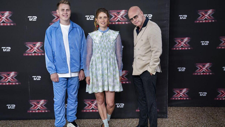 TV 2 præsenterer det nye dommerhold i 'X Factor 2021' på et pressemøde i Marketenderiet i Valby. Holdet er Thomas Blachman, Oh Land og DJ Martin Jensen. (Foto: Liselotte Sabroe/Ritzau Scanpix)