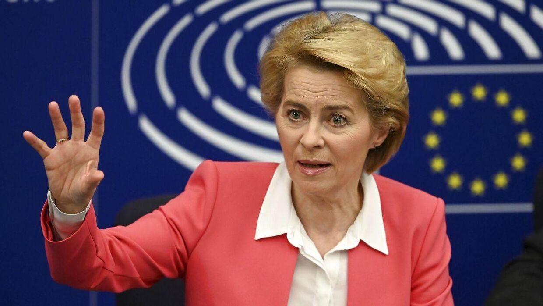 Urusla Von der Leyen, der er formand for EU-kommissionen.