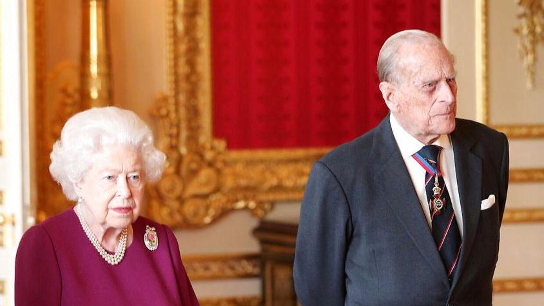 Prins Philip og dronning Elizabeth ses her i maj 2019.