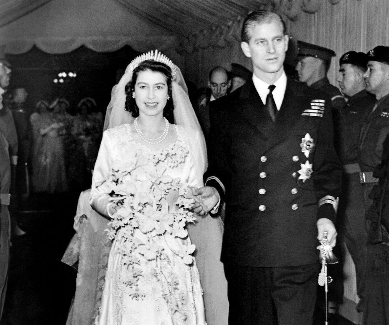 Prinsesse Elizabeth og prins Philip blev gift den 20. november 1947.