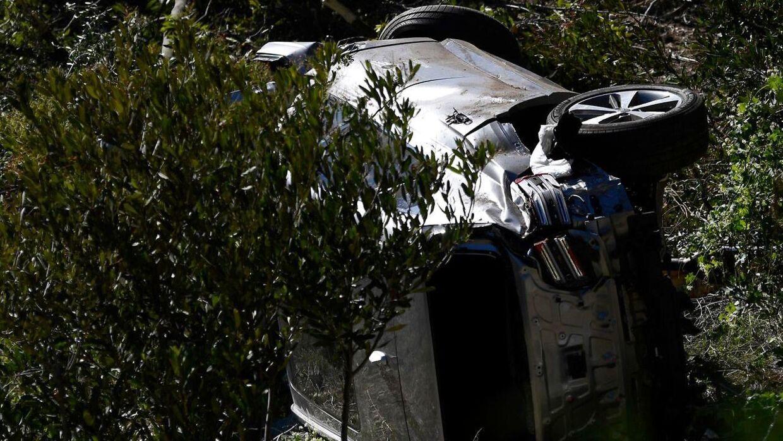 Tiger Woods' bil efter ulykken.