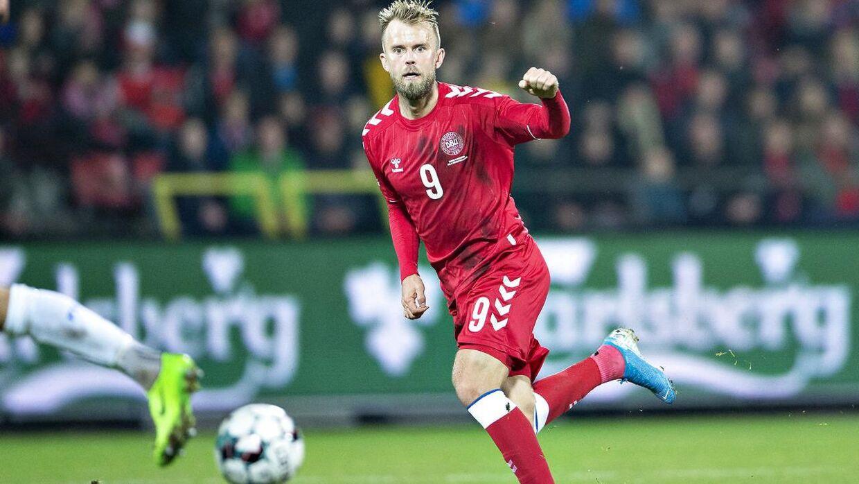Danmarks Christian Gytkjær i venskabskampen Danmark mod Luxembourg på Aalborg Stadion, 15. oktober 2019 .. (Foto: Henning Bagger/Ritzau Scanpix)