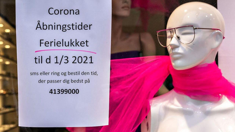 Mange butikker kan åbne for kunderne igen fra på mandag, hvor det er 1. marts. Foto: Henning Bagger/Ritzau Scanpix