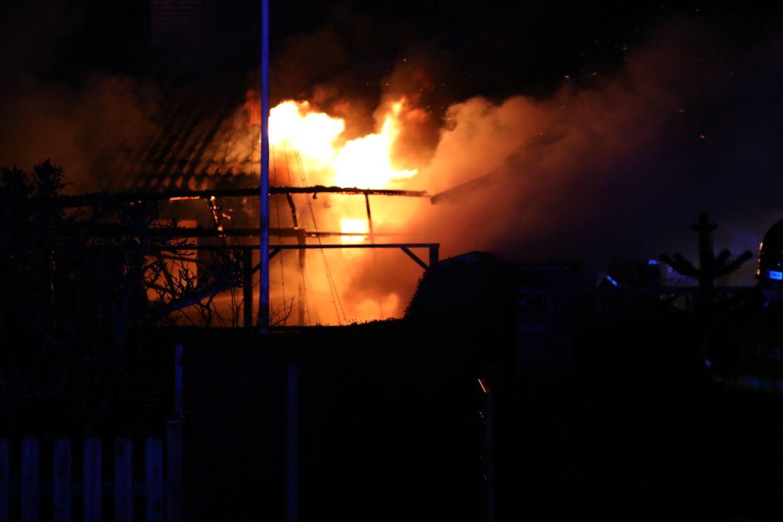 Her ses branden i rækkehuset på Thurø