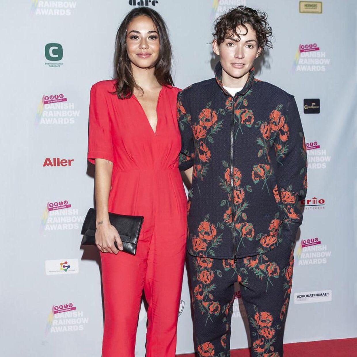 Sus Wilkins og Freja Kirk til Danish Rainbow Awards i 2019.