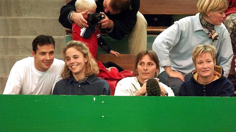 Per Pedersen (tv.) og Anja Byrial Hansen var gift fra 1997 og 2002. Parret fik meget opmærksomhed, fordi de begge var sportsstjerner.