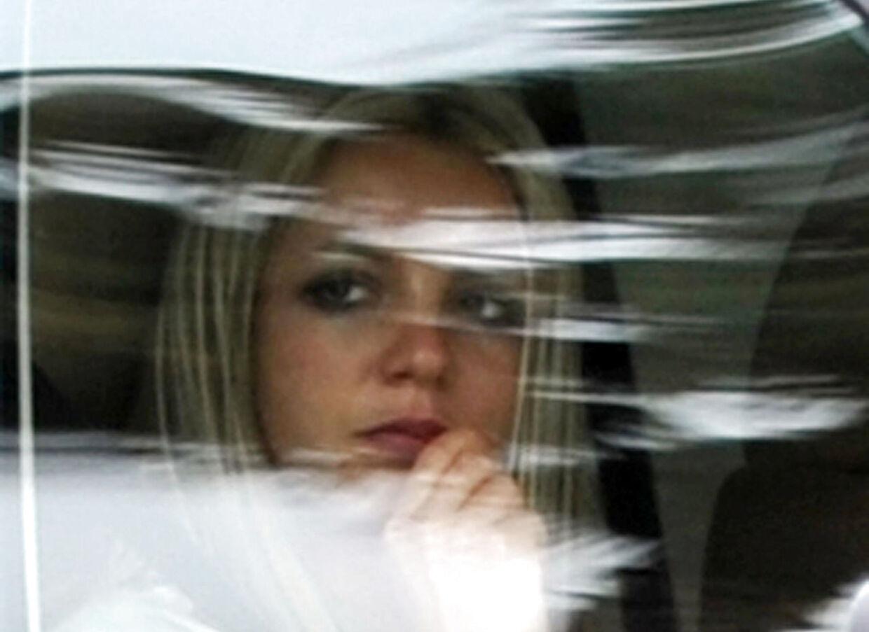 Britney Spears efter et retsmøde i 2008.
