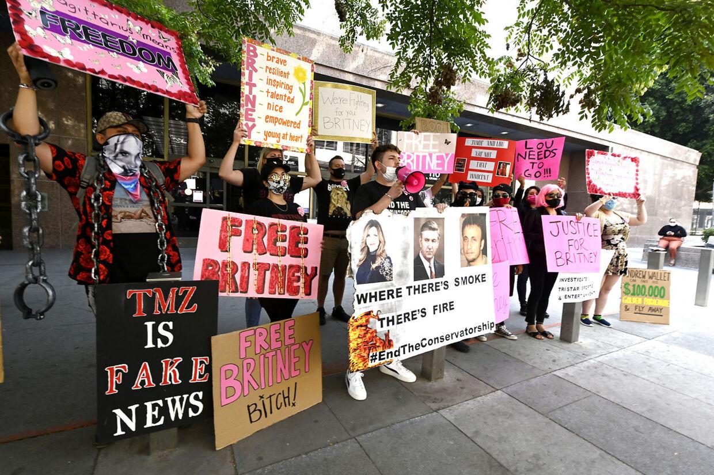 En 'Free Britney'-demonstration i 2020.