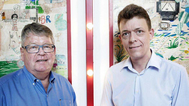 Her ses Peter Gjørup og Henrik Gjøru.