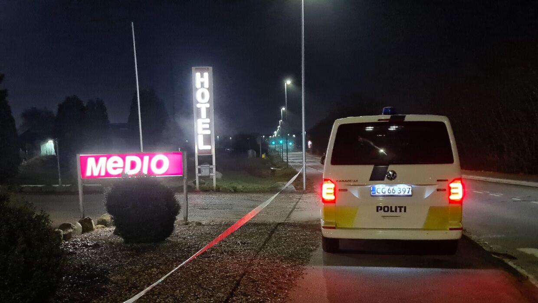 Politiaktion i Fredericia, Foto: Presse-fotos.dk