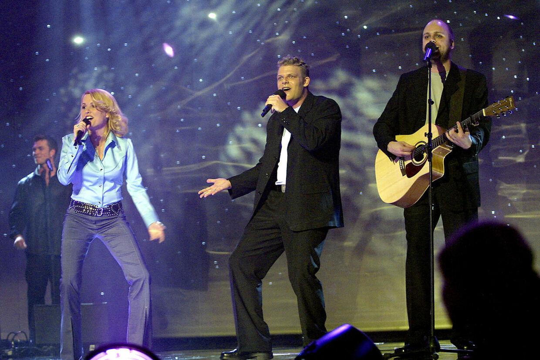 Rollo og King på scenen i Parken til Eurovision i 2001.