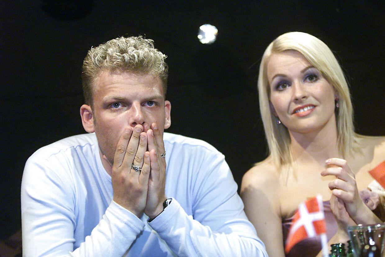 Søren Poppe og Signe Svendsen under afstemningen ved Eurovision i 2001.