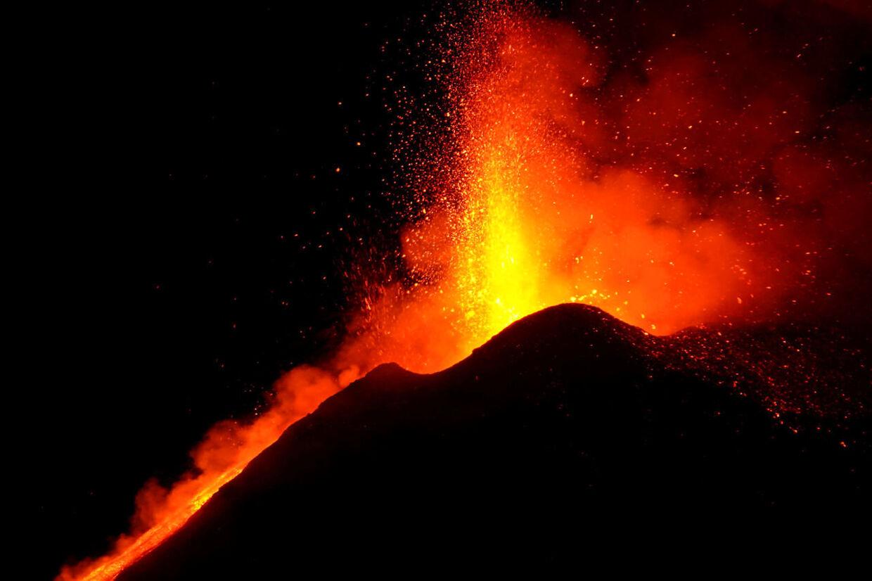 Lava fra vulkanen.