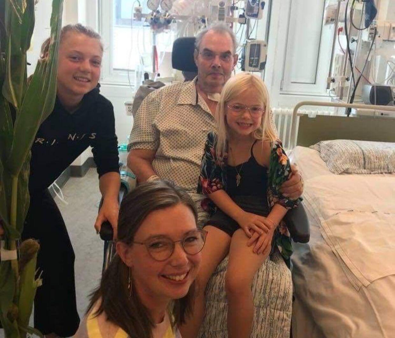 Her har Flemming besøg af sine børnebørn 23. august.