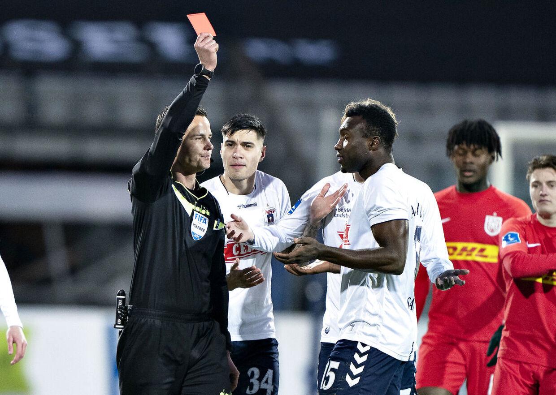 Bubacarr Sanneh fik kun fem minutter på banen mod FC Nordsjælland.
