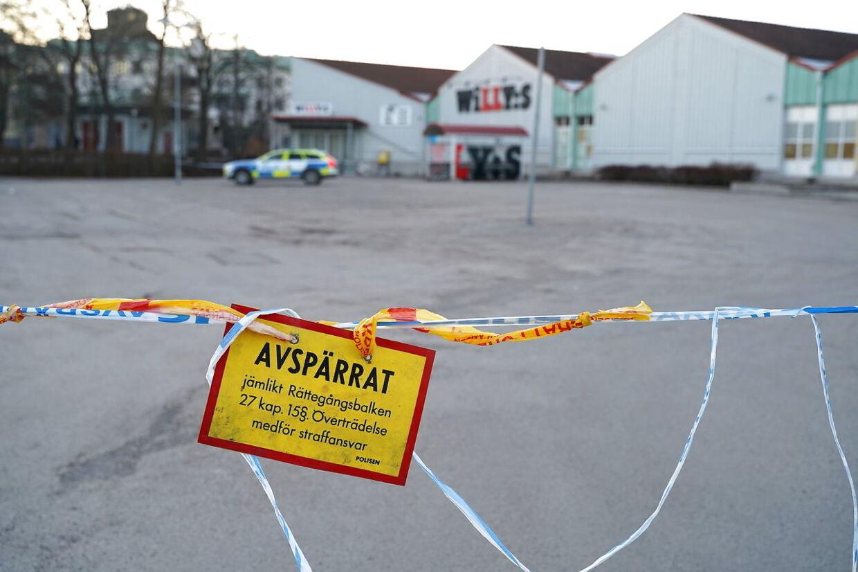 Et angreb skulle være foregået ved supermarkedet Willys.