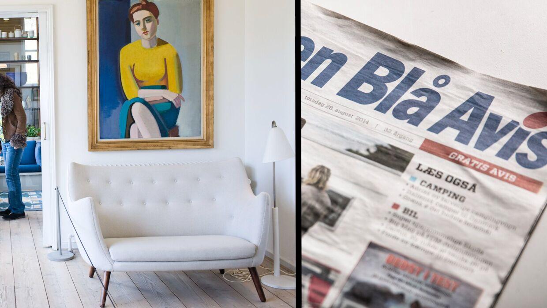 To Finn Juhl-stole blev blandt andet fundet på DBA. Foto: Scanpix