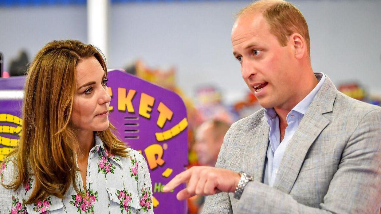 Prins William og hertuginde Kate.