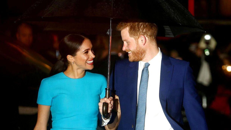 Arkivfoto af prins Harry og Meghan.