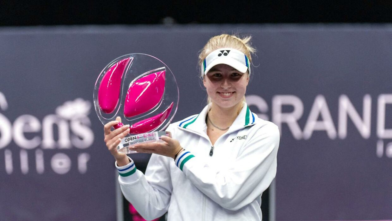 Tauson med karrierens første WTA-titel.